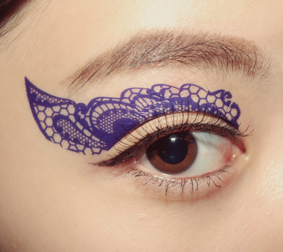 CclStore (Etsy)   Lace Temporary Tattoo Makeup