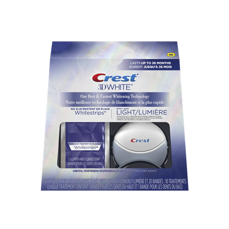 Crest    3D White Whitestrips with Light - Teeth Whitening Kit