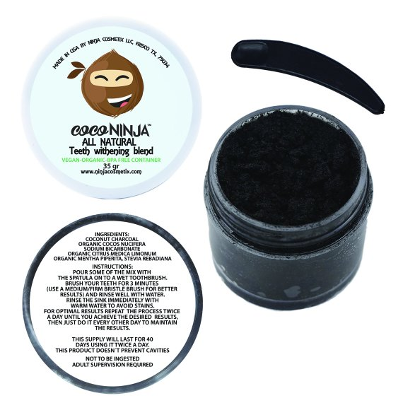 Ninja Cosmetix   Coco Ninja All Natural Teeth Whitening Blend