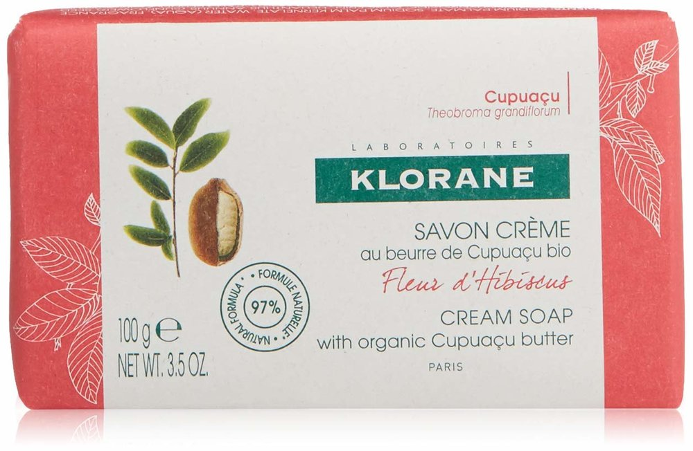 Klorane   Hibiscus Flower Cream Soap with Cupuaçu Butter