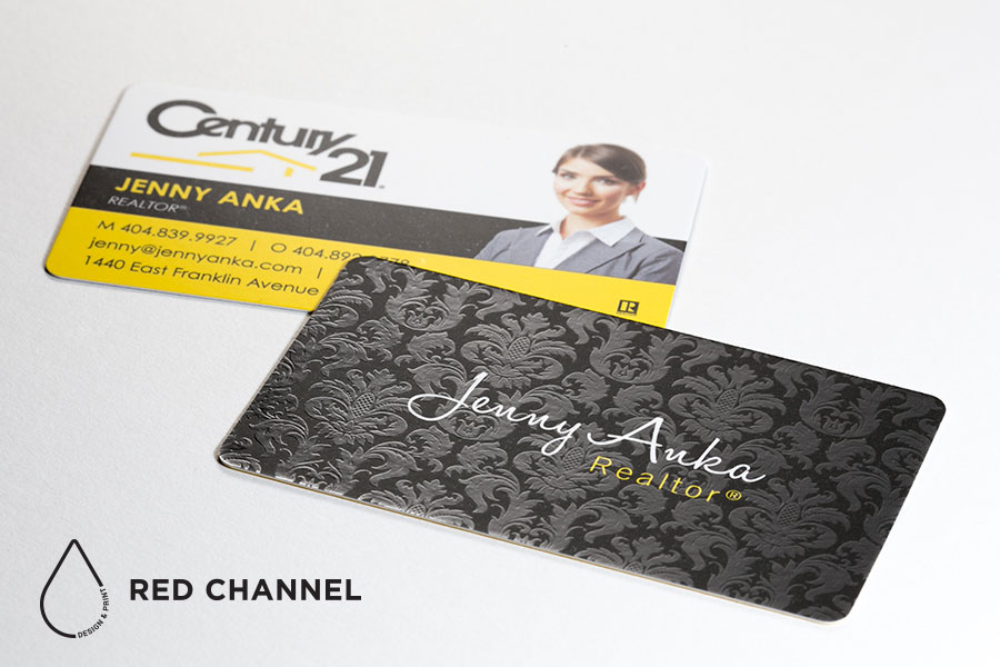 luxury business cards red channel design print gilbert