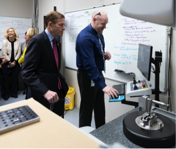 James Parkinson, (pictured right) NEAPs Metrology Manager explains measuring techniques used at the facility.