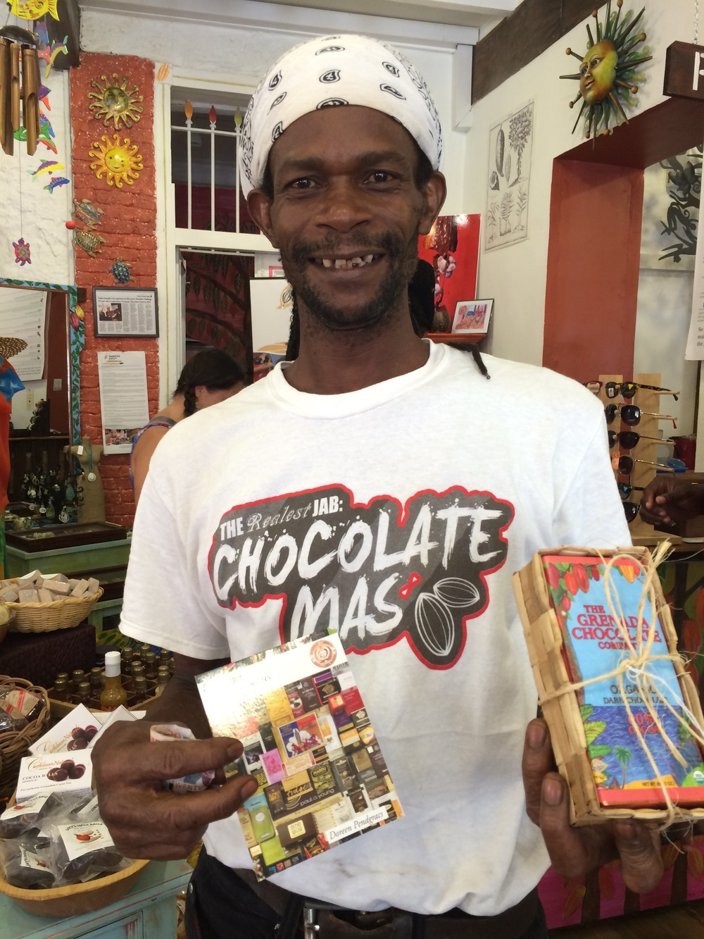 Edmond is one of the chocolate makers at the Grenada Chocolate Company. He is excited that Grenada's chocolate will be featured in Volume II of Chocolatour