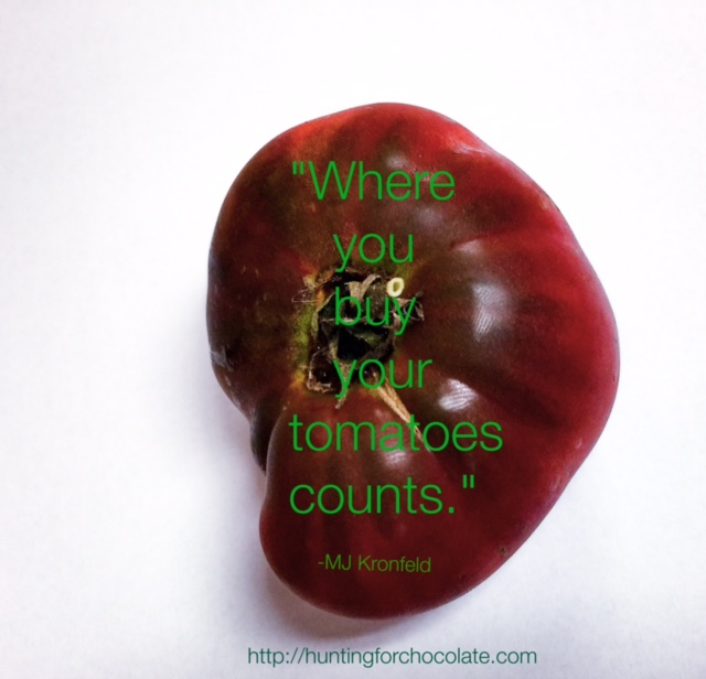 Homegrown Heirloom Tomato courtesy of Richie Jose, Austin Texas, photo and consumption by H Holland