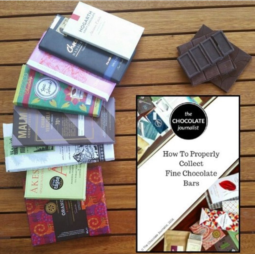 Sharon's first E-book, How to Properly Collect FIne Chocolate Bars, photo by Sharon Terenzi