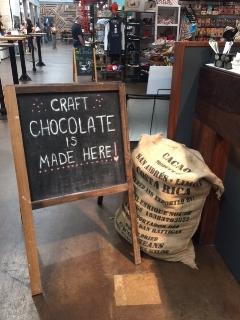 Craft chocolate sign in Krog Street Market
