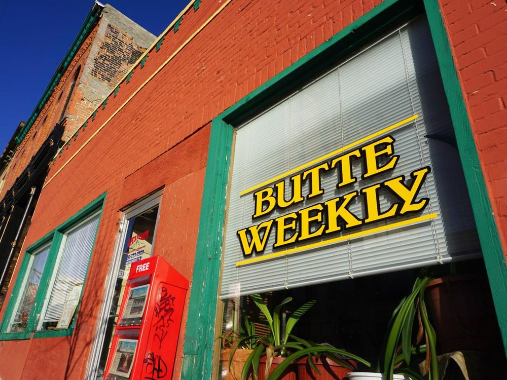 The Butte Weekly office, at its former location on Main Street in Uptown Butte.
