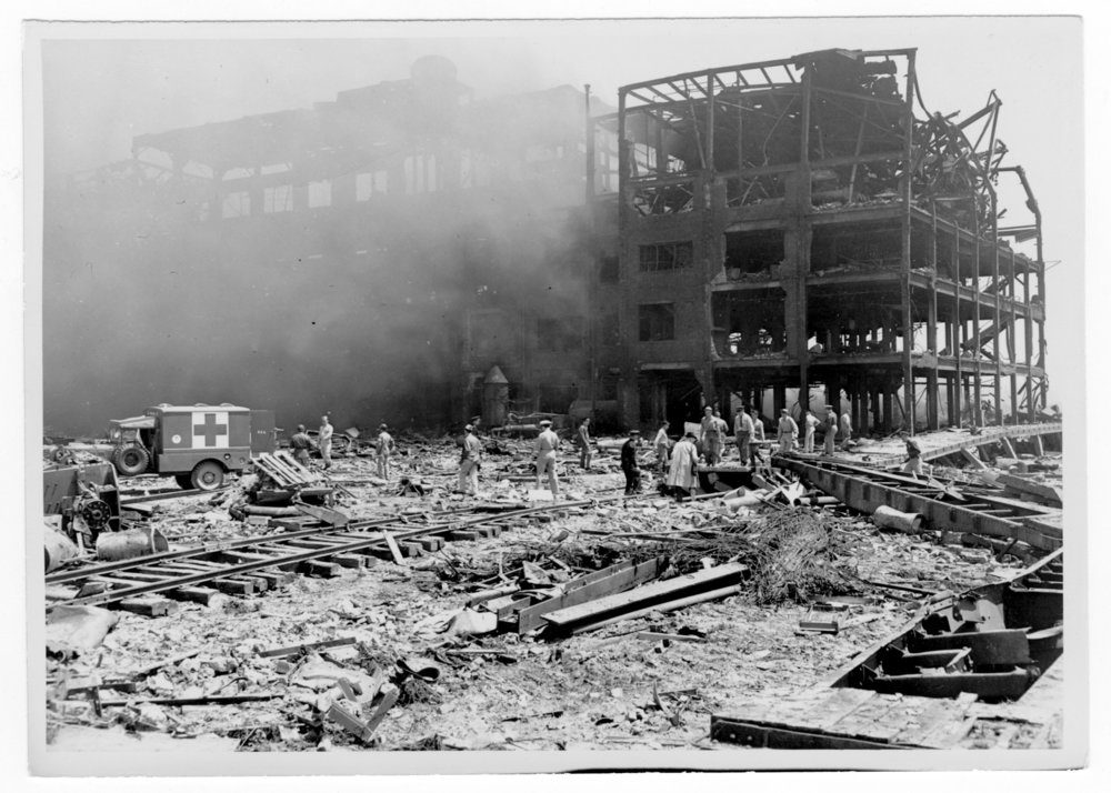 Aftermath of the Texas City, Texas explosion in 1947