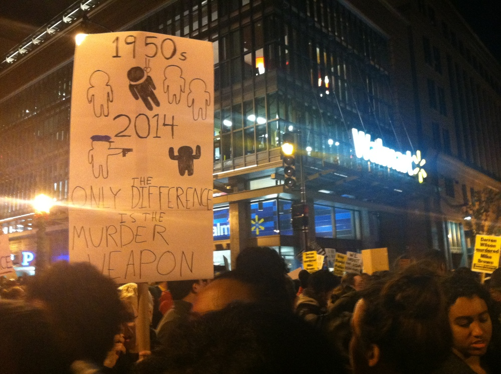Protesters in Washington D.C. after a grand jury did not indict Darren Wilson (Nov. 2015)