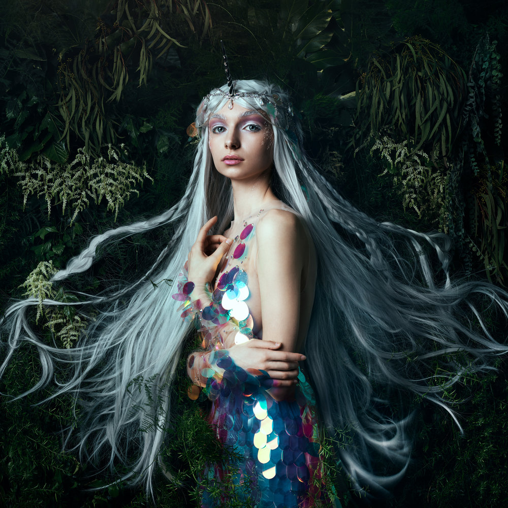 Greenery design and build for CreativeLive class with photographer Bella Kotak. 2017