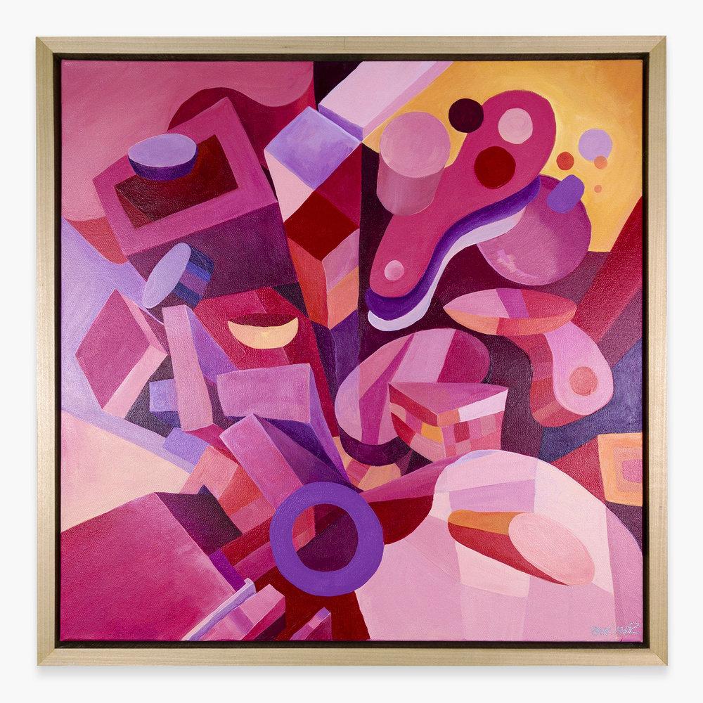 On WednesdaysWe Wear Pink - Acrylic on Canvas, 24