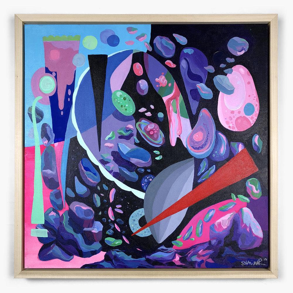 Space Debris - Acrylic on Canvas, 24
