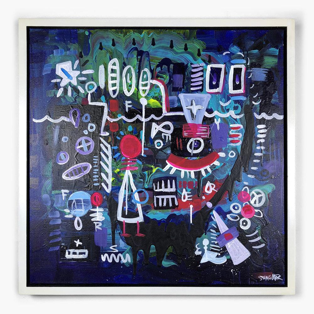Breathing Underwater - Acrylic on Canvas, 24