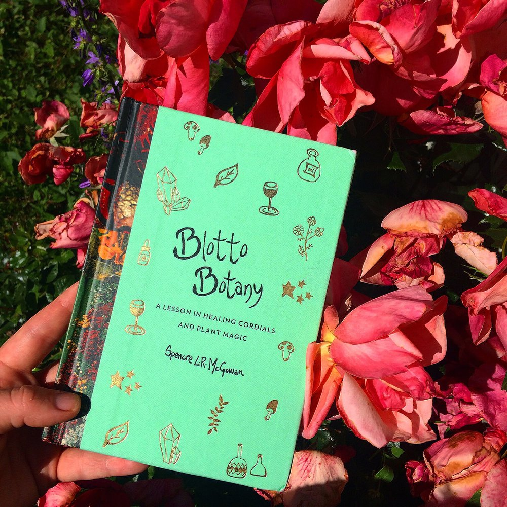 Blotto Botany: A Lesson in Healing Cordials & Plant Magic    - A new book by Spencre L.R. McGowan. With over 40 new recipes for healing cordials, shrubs, bitters and syrups, Blotto Botany was originally a zine that swept the indie circuit, and is now a full-length book with nods to the original, handwritten design