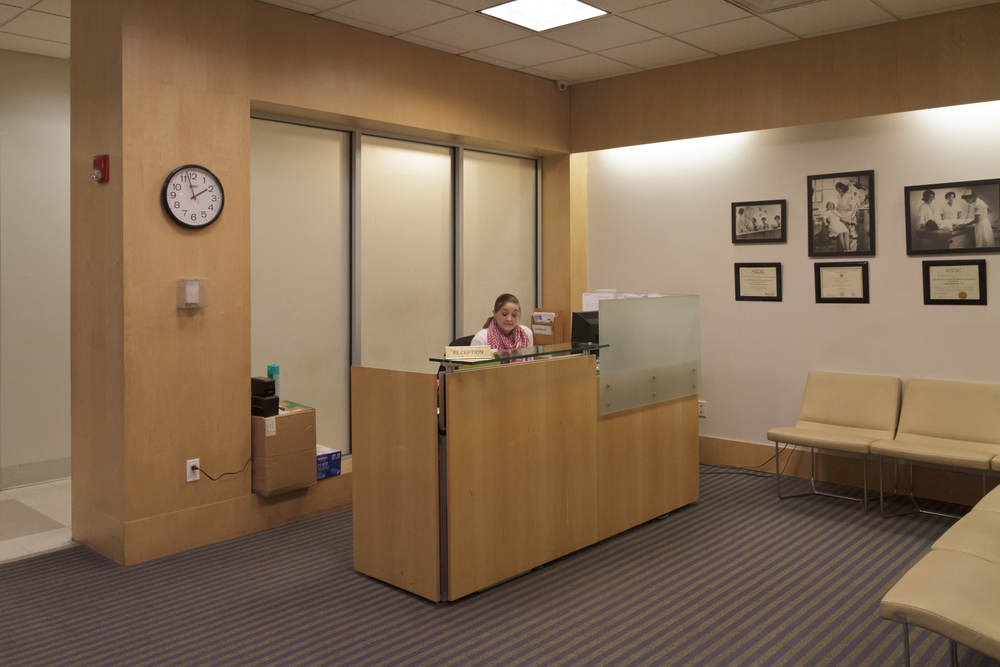 FRont DEsk reception area at NYSMDA