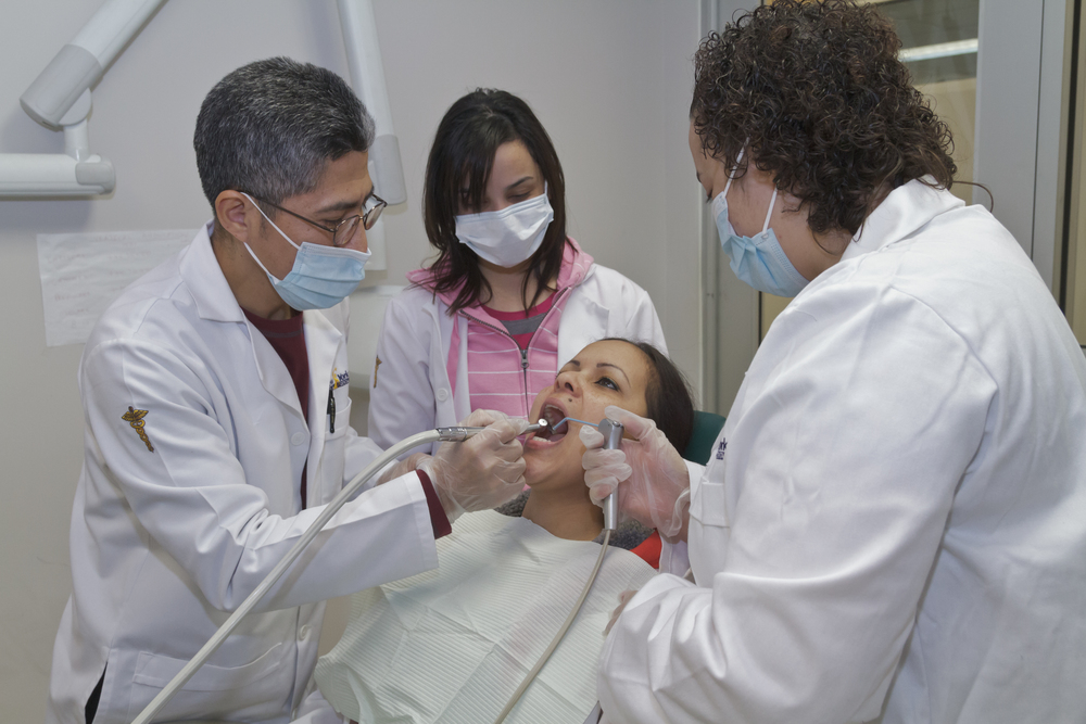 NYSMDA Teachers demonstrating dental practices with NYSMDA students