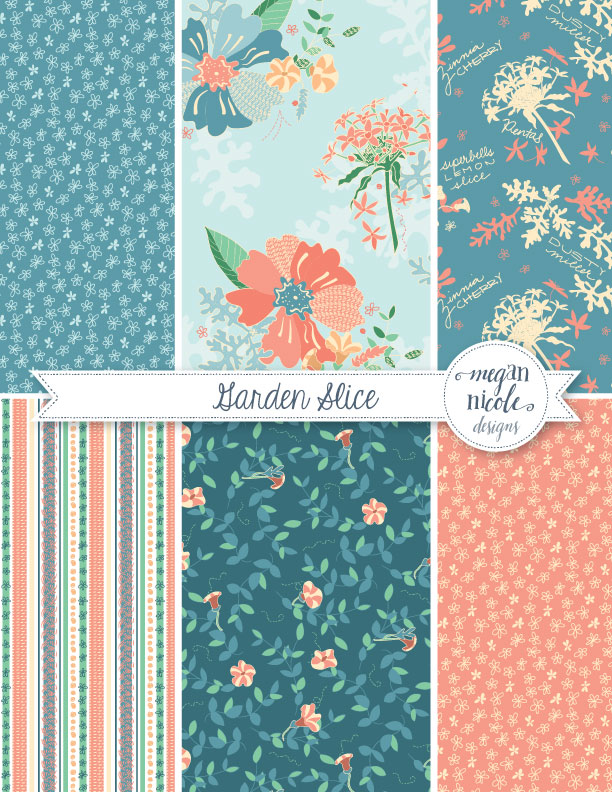 Garden Slice Collection by Megan Nicole Designs