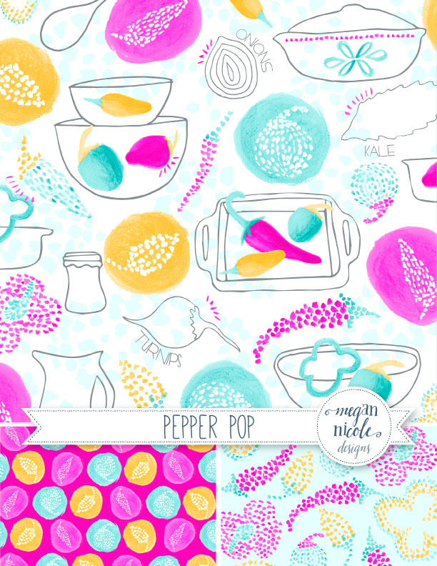 Pepper Pop Collection by Megan NIcole Designs
