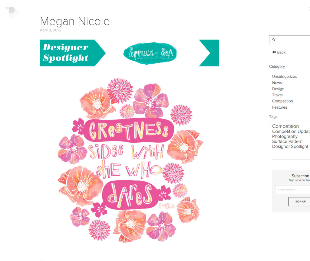 Tigerprint Feature by Megan Nicole