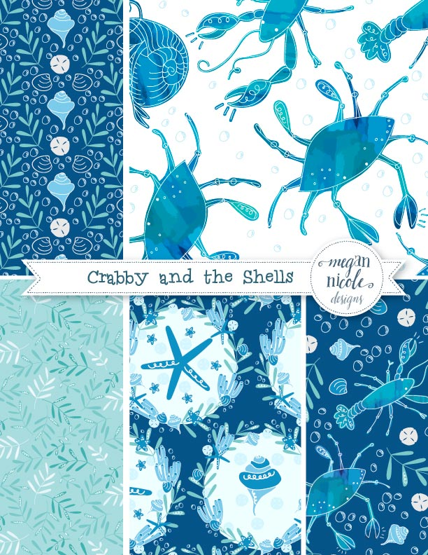 Crabby and the Shells Collection by Megan Nicole