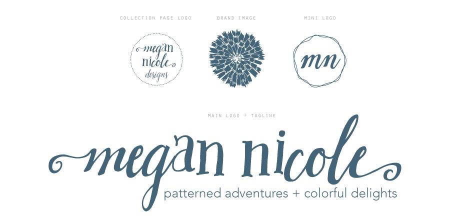 Megan Nicole Branding Logo Tagline