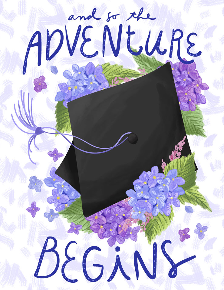 Graduation Sayings | Graduation Quotes | And so the Adventure Begins | Graduation Card