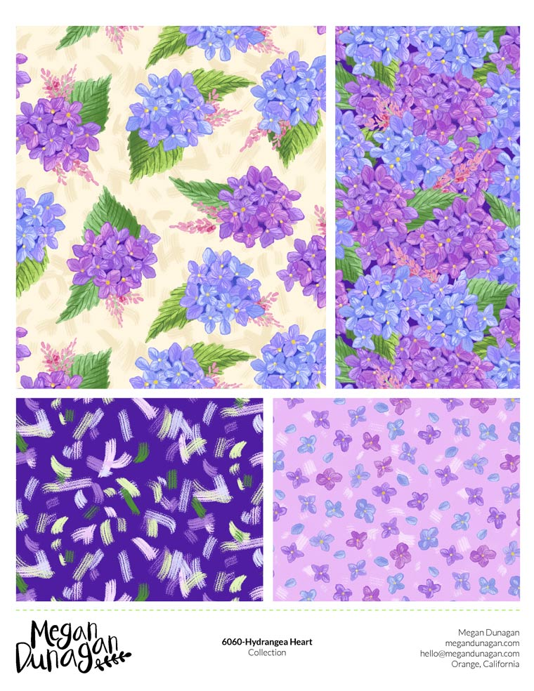 Hydrangea Heart | Fabric Collection | Bolt Fabic