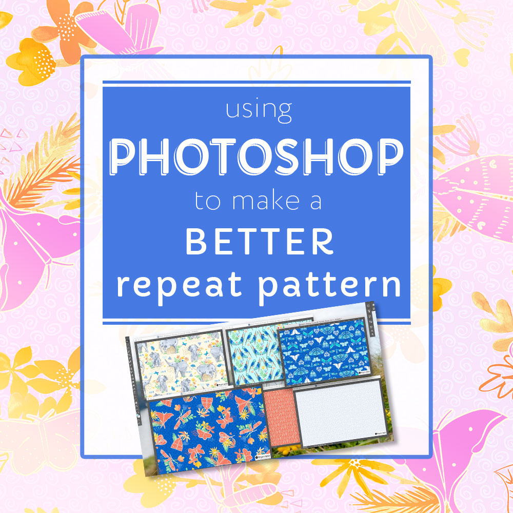 how to make a better repeating repeat pattern using photoshop