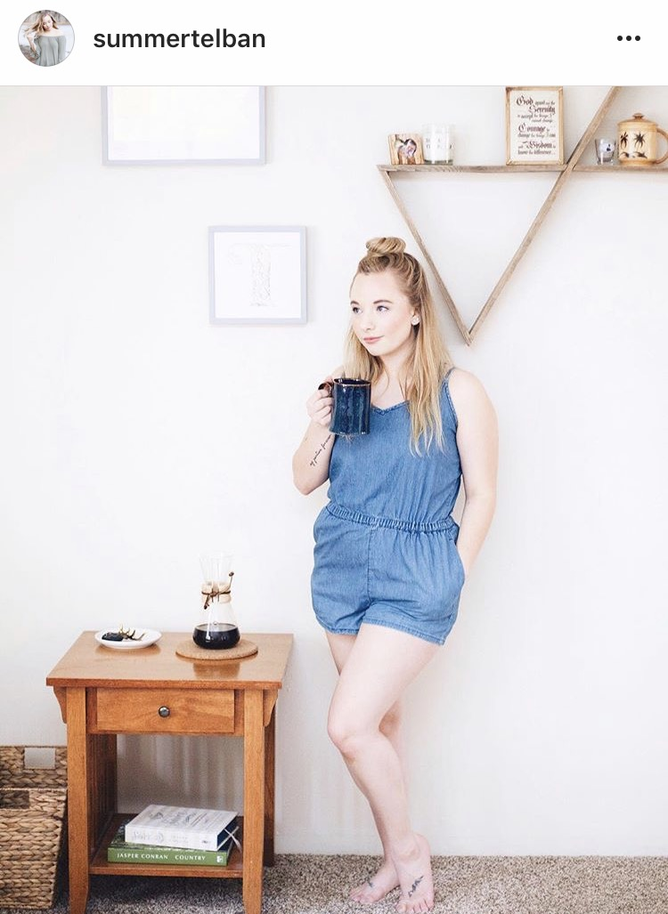 @Summertelban with her large reclaimed wood double triangle shelf