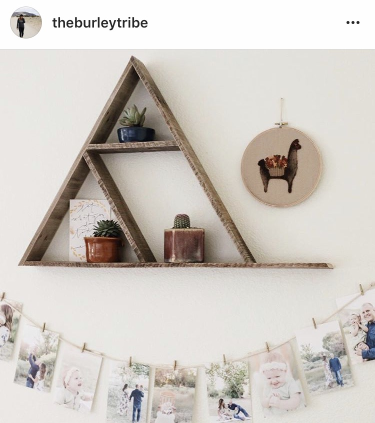 @theburleytribe with their reclaimed wood triangle