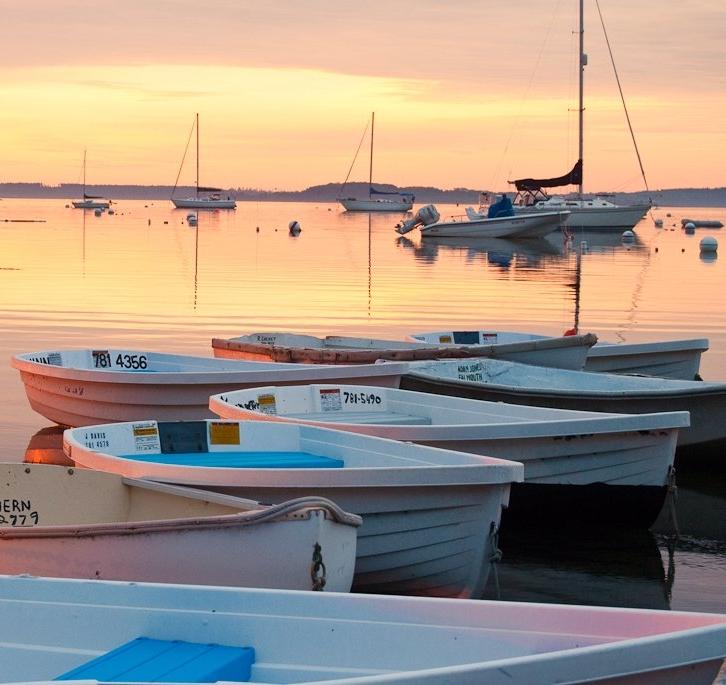 Maine Boats Sunrise Portland