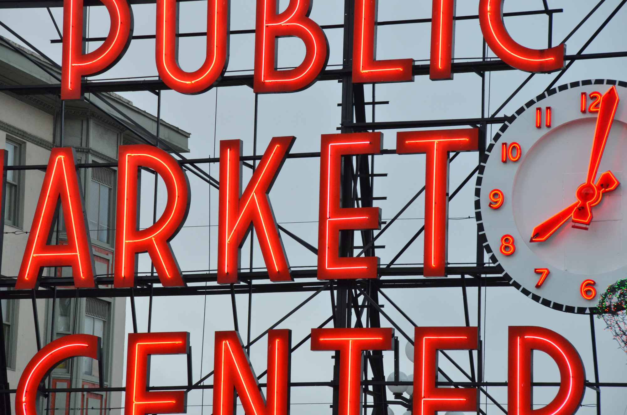 Seattle Pike Place Market Sign