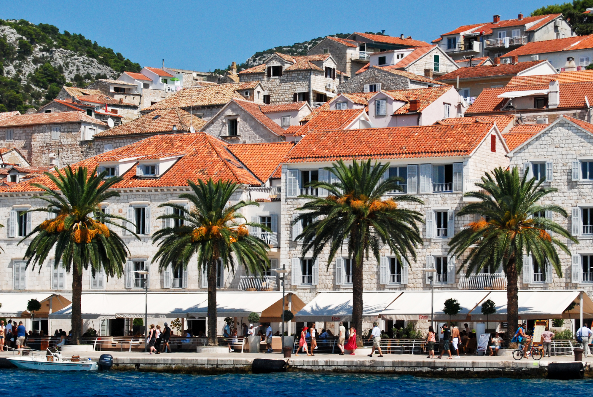 Hvar town waterfront