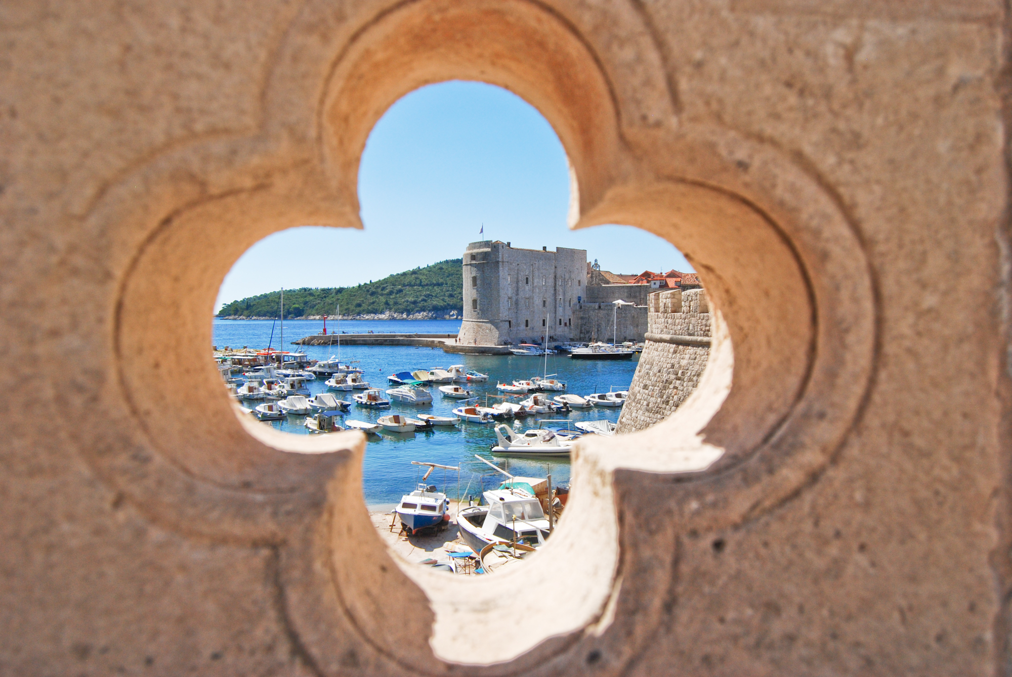 View of dubrovnik walls