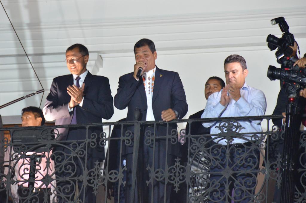 Quito Ecuador Election Rafael Independence Square