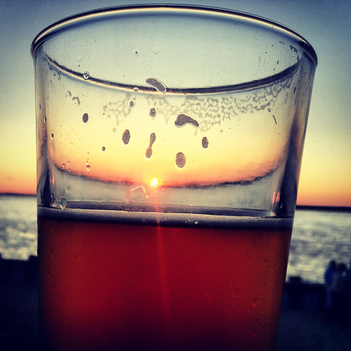 sunset in a beer