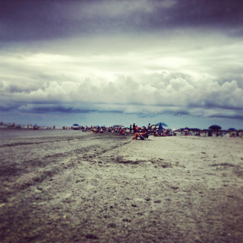 jersey shore photo beach clouds