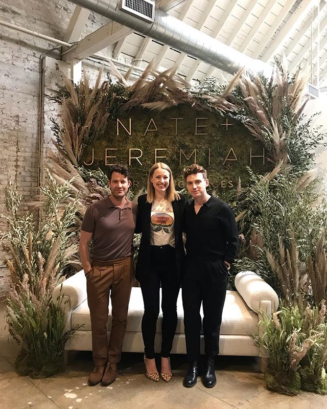 You guys! Dreams really DO come true! So thrilled to get a sneak peak of @nateberkus and @jeremiahbrent's new line for @livingspaces 🙌🏼 #NJFORLS 🙌🏼 Not only is each piece gorgeous, current, and of top quality but the entire collection is so cohesive and has such a strong storyline throughout. The attention to detail is so thoughtful and now I just WANT IT ALL! I Plus Nate and Jeremiah are truly as sweet and kind in person as you'd imagine. Don't you love it when that happens?! #soinspired #dreamcometrue #designworthy