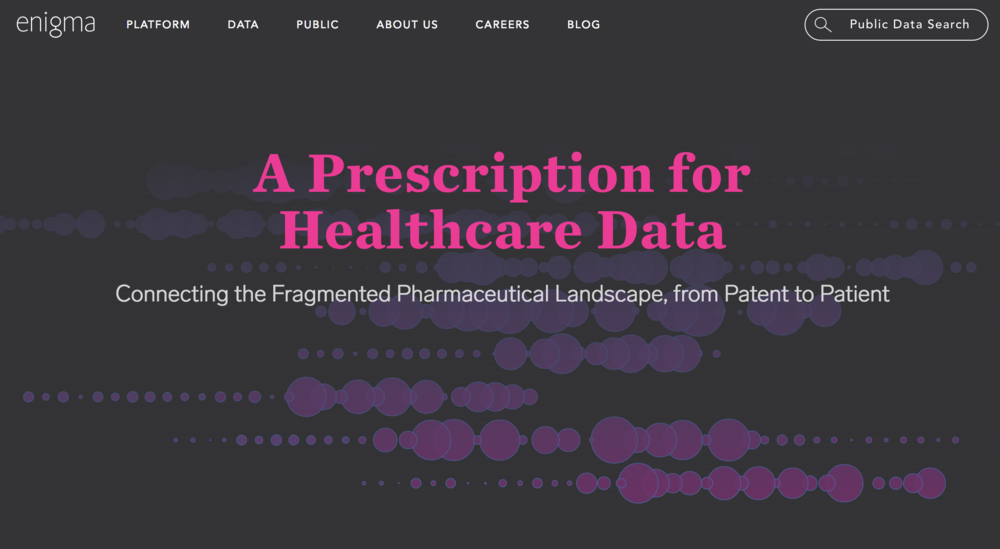 A Prescription for Healthcare Data