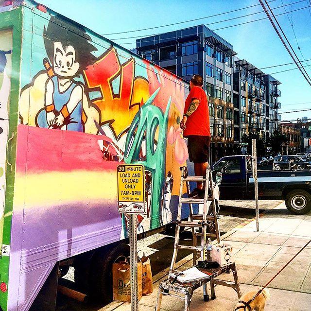#iloveu #theydrift #refresh #truckhouse #arttruck #seattle @theboxtrek