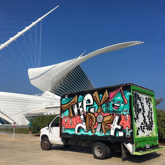 #stilldrifting #arttruck #artmuseum #arteverywhere #milwaukee #ourwayyesourway