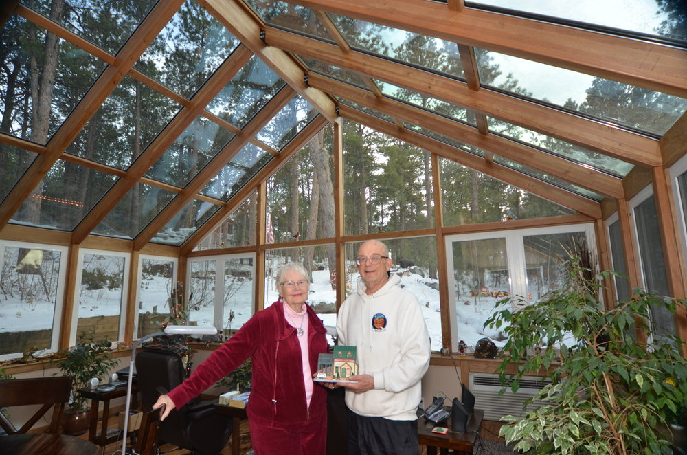 Cathedral Glass Roof With Wood Frame Colorado Sunroom And Window