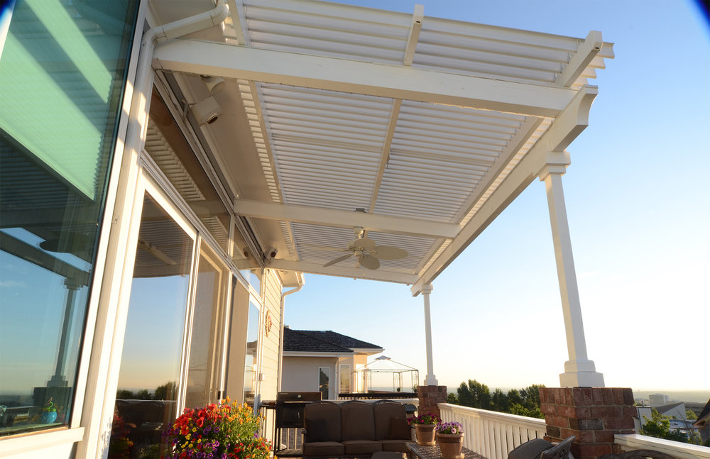 Solid Roof Systems Attached or Free Standing  Adjustable Louvered Systems  Pergolas
