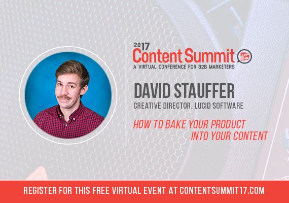 I was invited to participate in the 2017 Content Summit for B2B marketers to discuss ways to better bake your product into the content you're marketing. Not sure if my mustache increased or decreased the number of people who registered for my session ;)