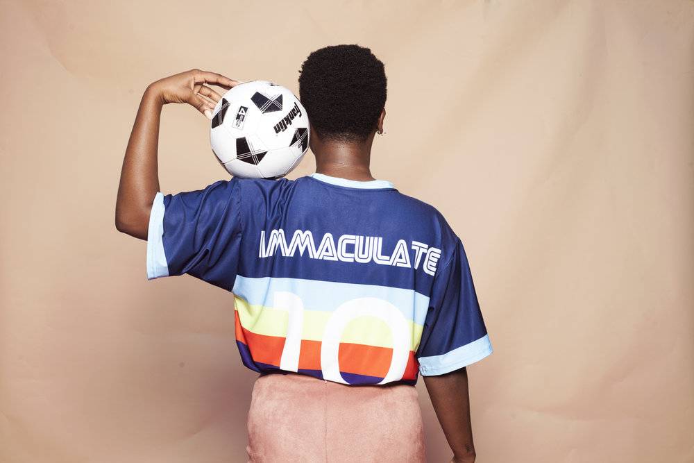 Jersey Shoot - Photographer: Shako Oteka Model: Mariam Dialo, Alec LomamiArt Director: Shako Oteka & Alec Lomami (@ThemCongoBoyz)