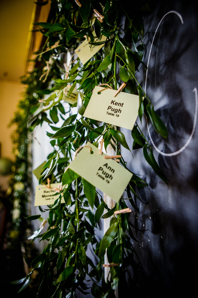 Greenery Place Card Display