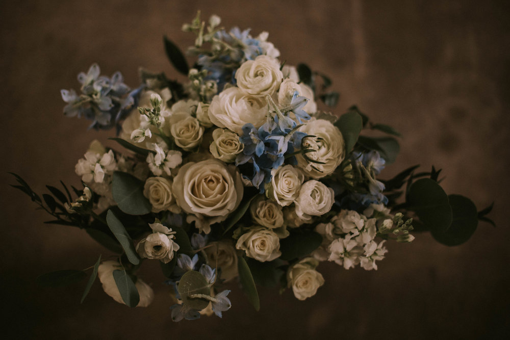 Moody Spring Wedding Flowers