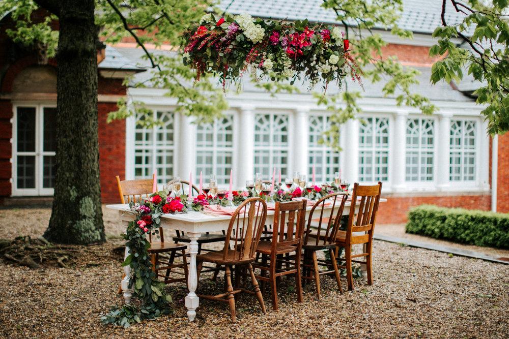 Outdoor Romantic Tablescape