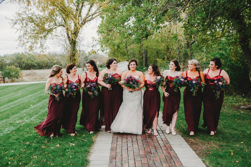 Jewel Toned Wedding Party