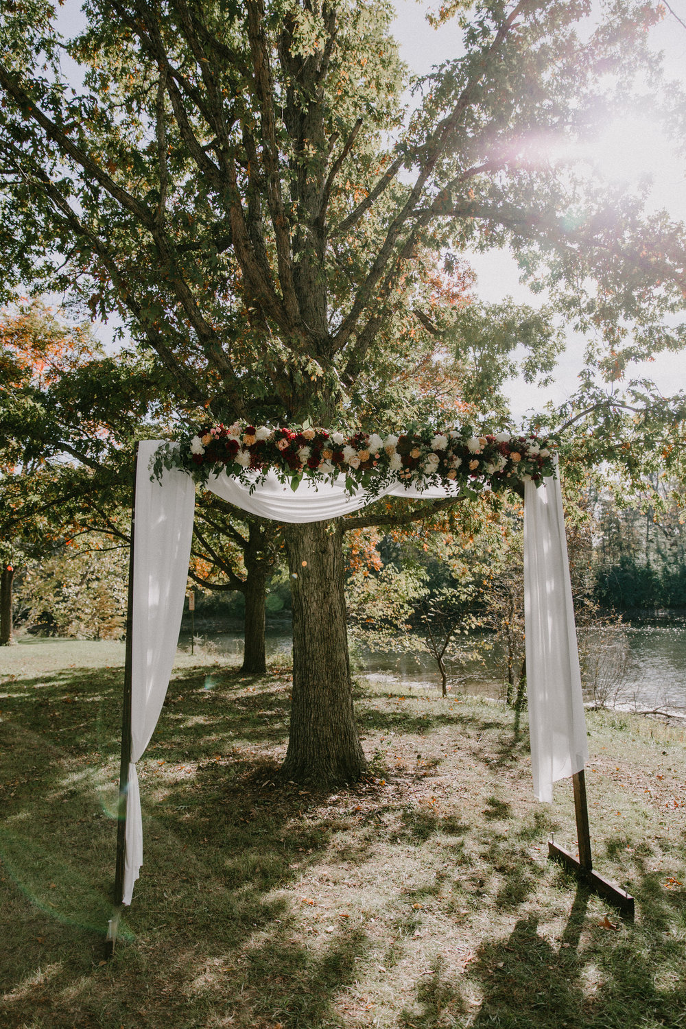 Ceremony Fall Flower Arch
